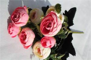 Wedding Decoration Artificial Silk Flowers Bouquet Camellia, Bride Holding Flowers pictures & photos