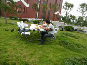 80cm Plastic Square Folding Table for Weekend Picnic Use pictures & photos