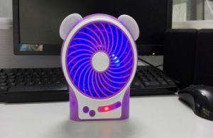Little Bear LED Light Power Bank Hand Hold USB Fan pictures & photos