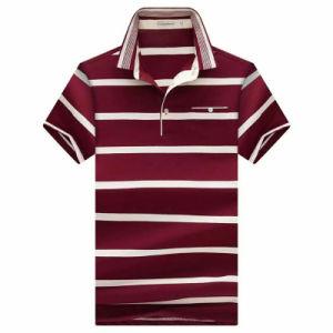 Men Fashion Polo Shirts Stripe Jersey Cotton Polo Shirts pictures & photos