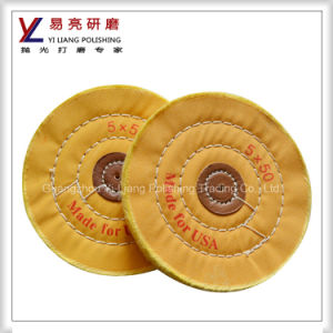 Polishing of Disks of Cotton Jewellery /Steel Sewn Dental Yellow Polishing Cloth-Wheel pictures & photos