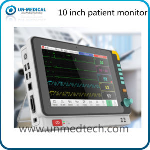 Hot -10.4 Inch Six Parameters Patient Monitor with Back Stand pictures & photos