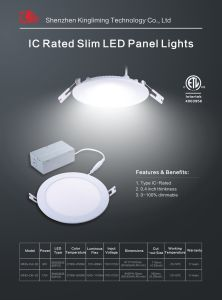 Energy Star ETL Certificated Dimmable Warm White Cool 4inch Super Thin LED Recessed Light 8W pictures & photos