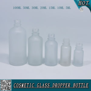 Glass Refillable Frosted Glass Dropper Bottle for Essential Oil pictures & photos