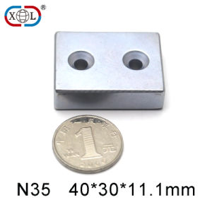 Zinc Coating Magnet with Block Size pictures & photos