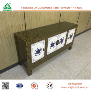 Customized Wooden Fashion Crack Lacquer Sideboard pictures & photos