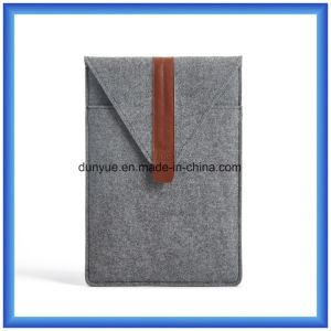 "Factory Customized Wool Felt Laptop Briefcase Bag, New Fashion Envelope Shape Laptop Sleeve for 11"" Laptop pictures & photos"