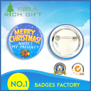 Custom Tin Button Badge Cmyk Silkscreen Printed Logo pictures & photos
