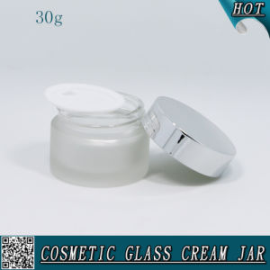 30ml Frosted Facial Cream Skin Care Lotion Glass Jar pictures & photos