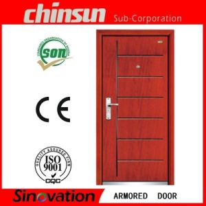Low Price Steel Wooden Armored Door pictures & photos