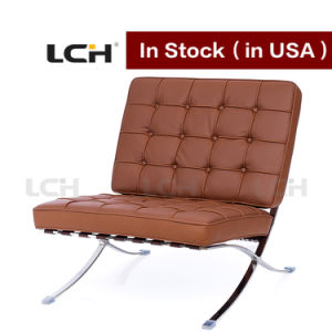 Home Furniture Brown Colour Barcelona Chair in Stock pictures & photos