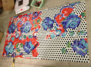 Flower Pattern Glass Mosaic Pattern Wall Tile (HMP812) pictures & photos