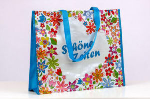 Eco Custom Cmyk Laminated Film PP Woven Grocery Bag pictures & photos