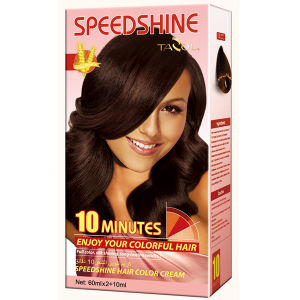 Speedshine Hair Color Cream cosmetic with 4.00 Medium Brown pictures & photos