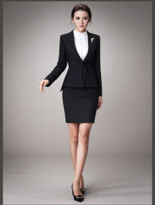 Made to Measure Fashion Stylish Office Lady Formal Suit Slim Fit Pencil Pants Pencil Skirt Suit L51621 pictures & photos