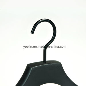 Luxury Black Wood Coat Suit Hanger with Logo (YL-a006) pictures & photos