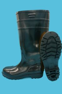 PVC Rain Boots with Safetoe (JK46503-Black) pictures & photos