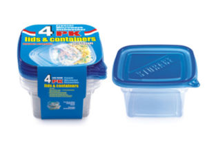 Disposable 1050ml 4PCS Packing Food Containers with Lids