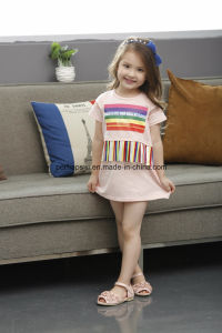 Fashion Sweet Flower Kids Flower Girls Dress Children Wear pictures & photos