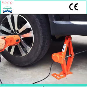 3 Tons Portable Electric Scissor Lift Jack with Impact Wrench pictures & photos