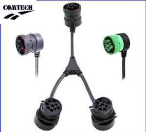 Y Splitter J1939 9 Pin Deutsch Connector J1939 Diagnostic Cable for Truck pictures & photos