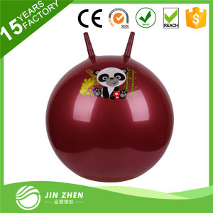 Colorful PVC Exercise Jumping Ball Toy Jumping Pop Ball with Handle pictures & photos