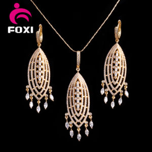 CZ Jewelry Manufacturer Wholesaler African Style Dubai Gold Plated Jewelry Set pictures & photos