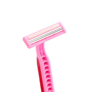 Popular Lady Triple Blade Disposable Shaving Razor for Supermarket (GK-9003) pictures & photos