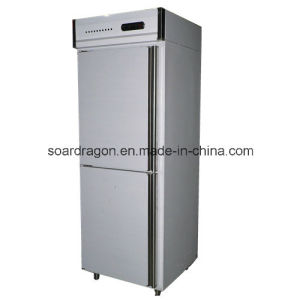 Upright Kitchen Fridge with Double Doors pictures & photos