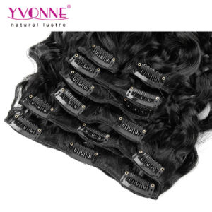 Peruvian Natural Hair Clip in Extensions Human Hair pictures & photos