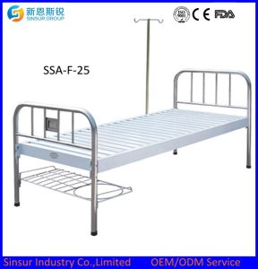 Hot Sale! Metal Head/Foot Flat Medical Bed/Hospital/Nursing Bed pictures & photos
