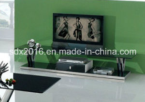 TV Stand / Living Room Furniture / Stainless Steel Table / Home Furniture / Modern Table / Glass Table / Tempered Glass Table Dg015 pictures & photos