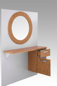 The Newest Wooden Round Mirror Stations (MY-B064) pictures & photos