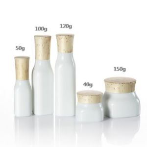 Glass Cosmetic Bottle for Face Cream pictures & photos