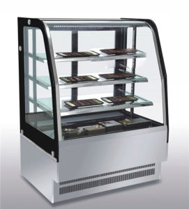 Vertical Cake Bakery Chiller Pastry Display Showcase with Luxury Style pictures & photos