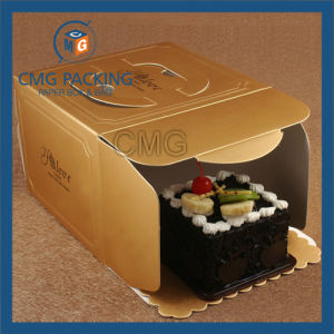 Golden Color Printing Handling Kraft Cake Box (CMG-cake box-008) pictures & photos
