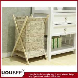 Bespoke Laundry Hamper/Bag with Wooden Bracket and Canvas Bag pictures & photos