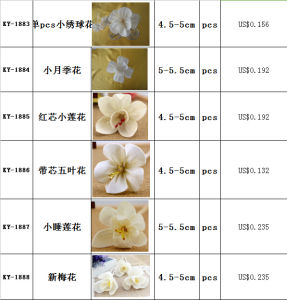 White Lily Sola Wood Flower Handmade pictures & photos