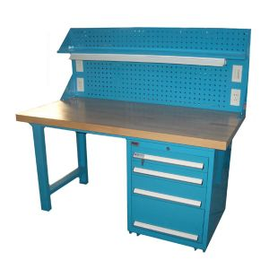 Heavy Duty Steel Workshop Storage Workbench with Peg Board pictures & photos