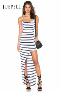 Stripe Knit Slip Women Tank Dress pictures & photos