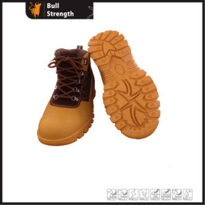 Leather Safety Boots with Rubber Sole (SN5376) pictures & photos