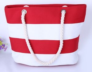 Offering Rope Handle Cotton Beach Totoe Bag (B567) pictures & photos