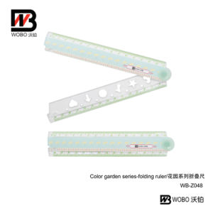 Folding Stationery Plastic Ruler with Artwork for Office Supply pictures & photos