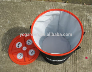 Nylon PVC Pop up Spiral Pet Food Bin with Cover