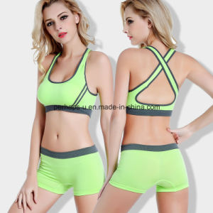 Fashion Quickly Dry Ladies Running Shorts Yoga Bra Fitness Suit pictures & photos
