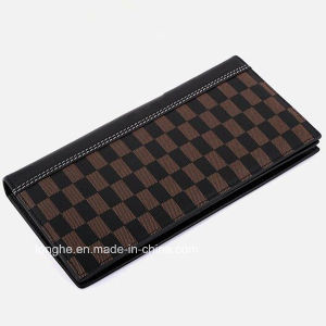 Good Quality Zip PU Grid Print Wallet for Men (ZX10202) pictures & photos