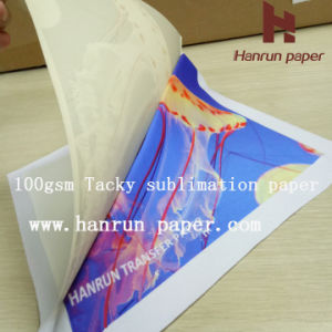 100GSM Anti-Ghost Tacky Sublimation Heat Transfer Paper for Active Wear pictures & photos
