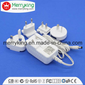 12V1a AC/ DC Power Adaptor with Exchangeable AC Plugs with UL FCC Ce SAA PSE GS DOE VI Cert pictures & photos