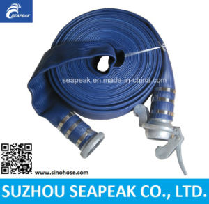 "1""-10"" Blue PVC Layflat Water Irrigation Hose pictures & photos"