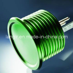 Green Anodized Aluminum 16mm Piezo Switch with Finger Location pictures & photos